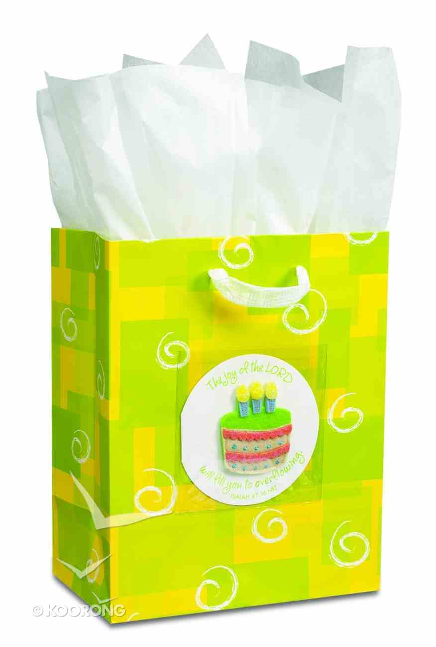 Gift Bag Large: Birthday Cake (Incl Tissue And Gift Tag) Stationery