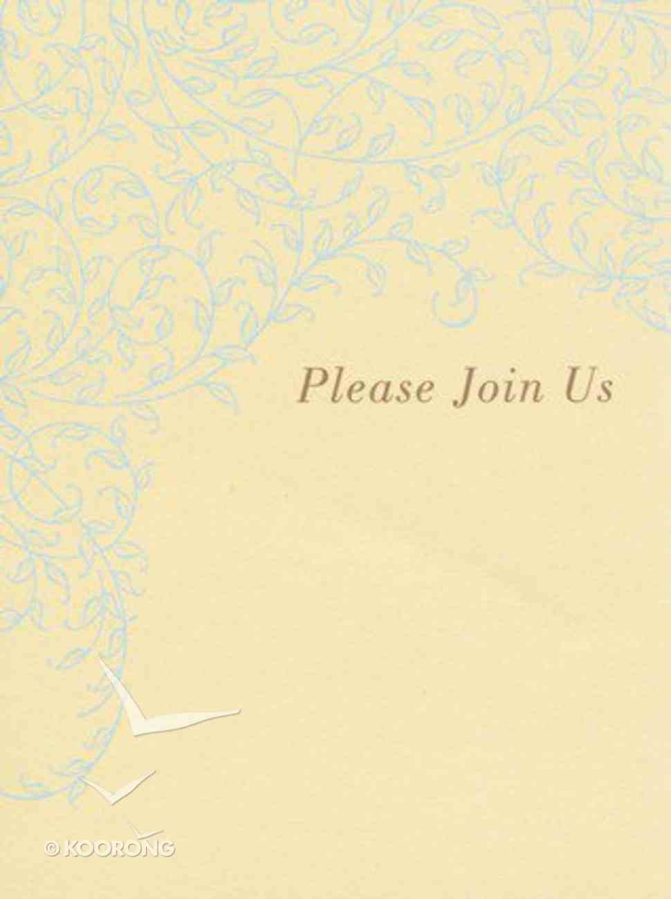 Boxed Cards: Invitation, Please Join Us Box
