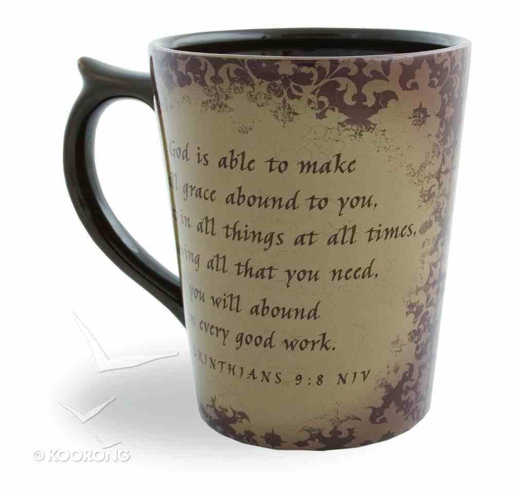 Classic Ceramic Mug: Special Purpose, (2 Corinthians 9:8 NIV) (Beige) Homeware