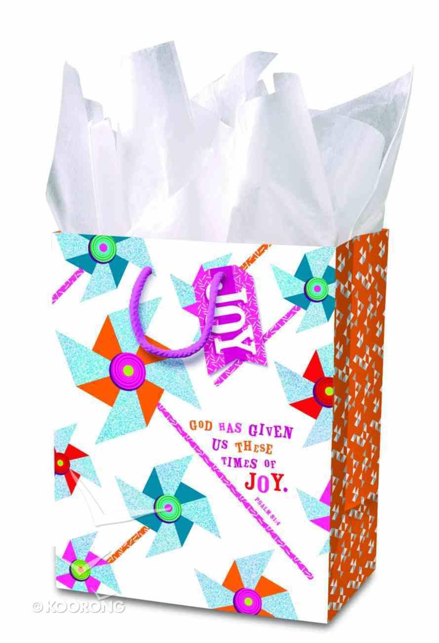 Gift Bag Medium: Pinwheel Fun (Incl Tissue And Gift Tag) Stationery