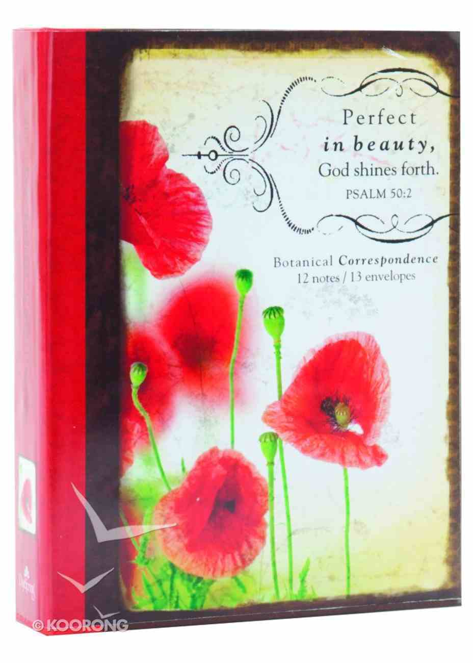 Boxed Notes: Poppy Correspondence Red Psalm 50:2 Box