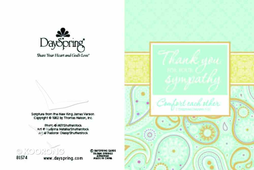 Boxed Notes: Thank You Paisley Floral 1 Thess 5:11 Box