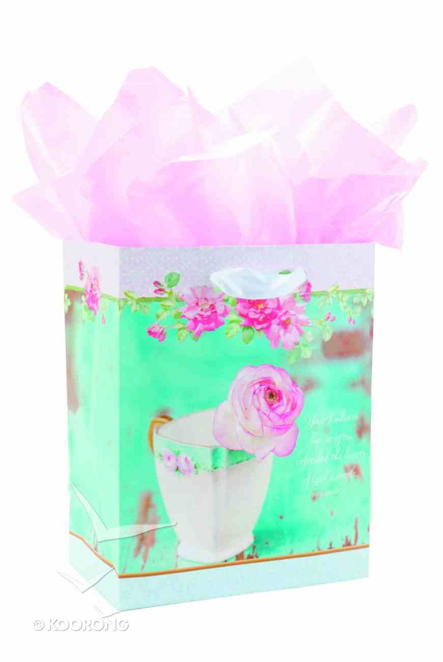 Gift Bag Medium: New Teacup (Incl Tissue And Gift Tag) Stationery