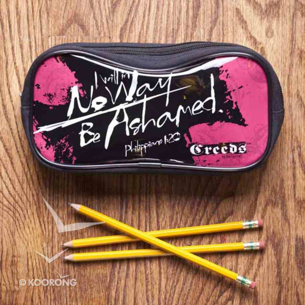 Pencil Case: Cross I Will No Way Be Ashamed, Philippians 1:20 Stationery