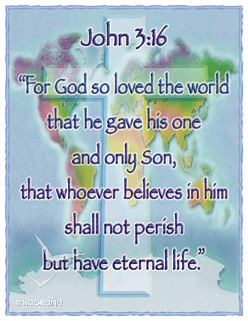 Poster Large: John 3:16 Poster