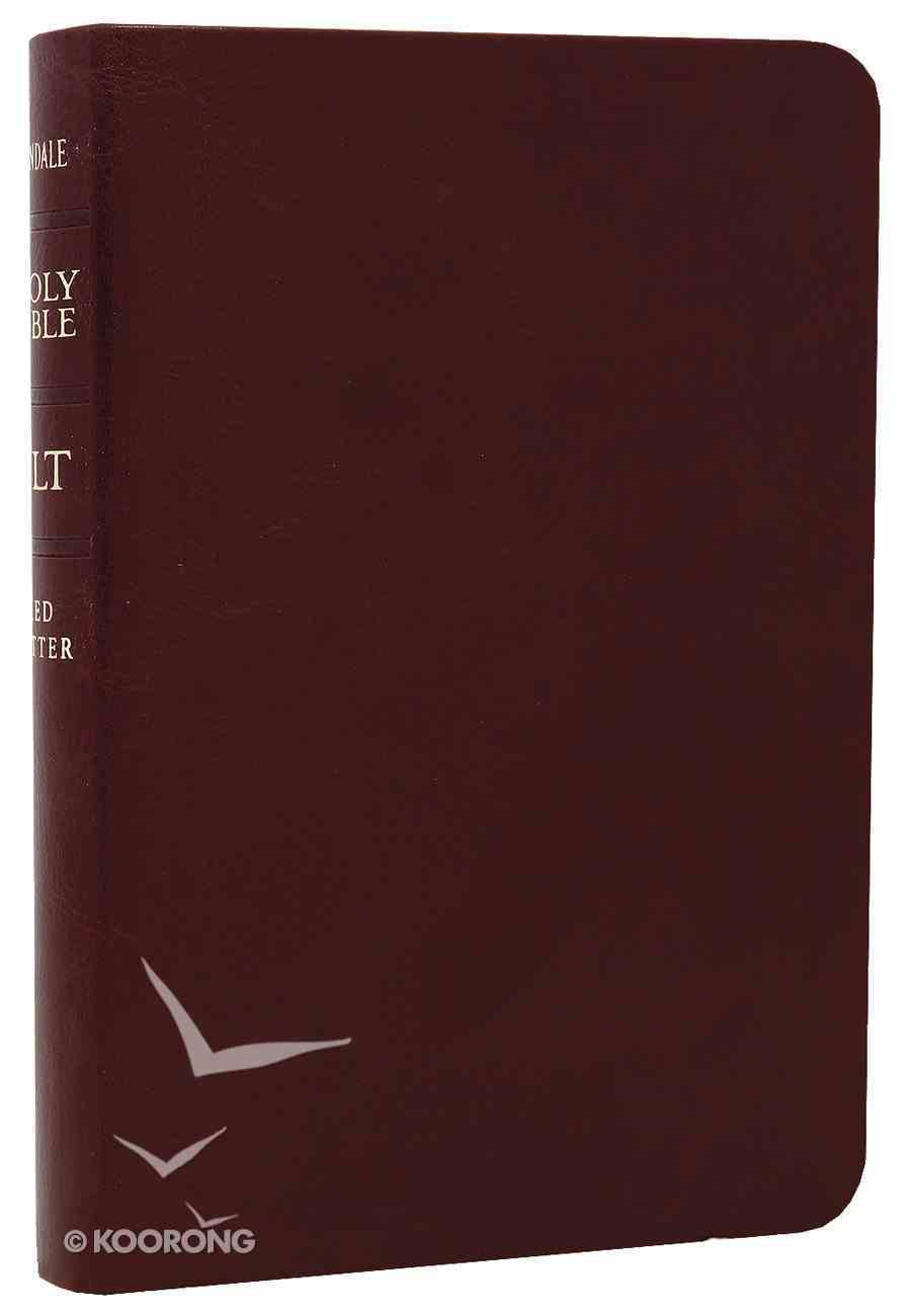 NLT Compact Bible Burgundy (Red Letter Edition) Imitation Leather