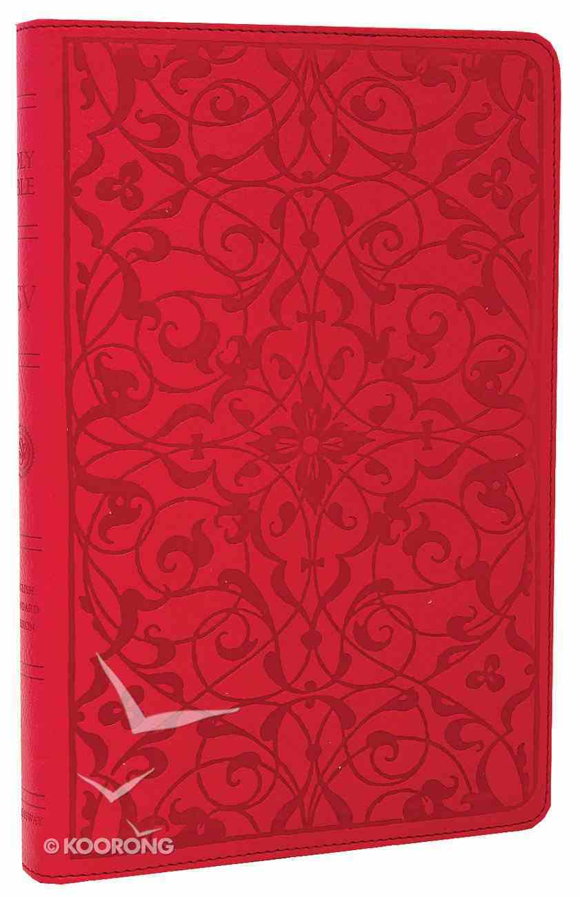 ESV Thinline Bible Wild Rose Floral Design (Red Letter Edition) Imitation Leather