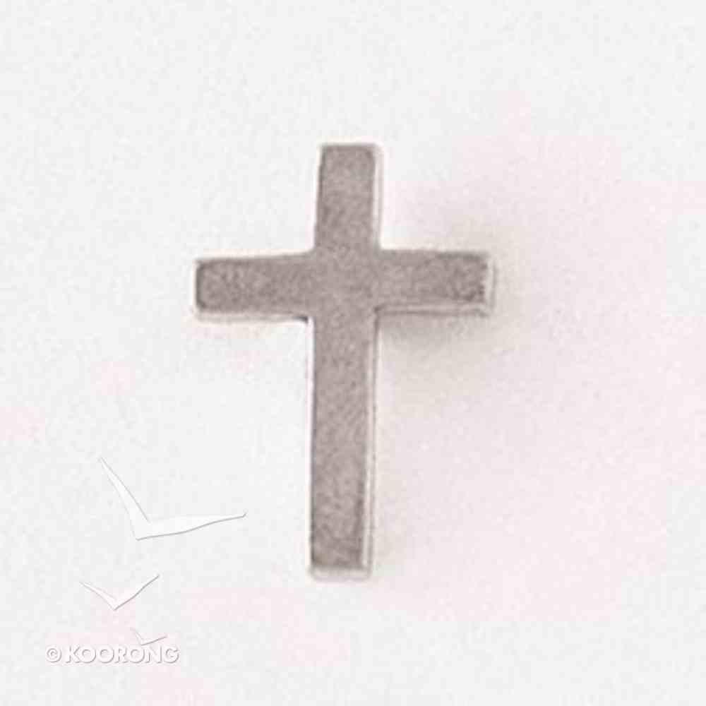 Lapel Pin 100% Lead Free Pewter Plain Cross Jewellery