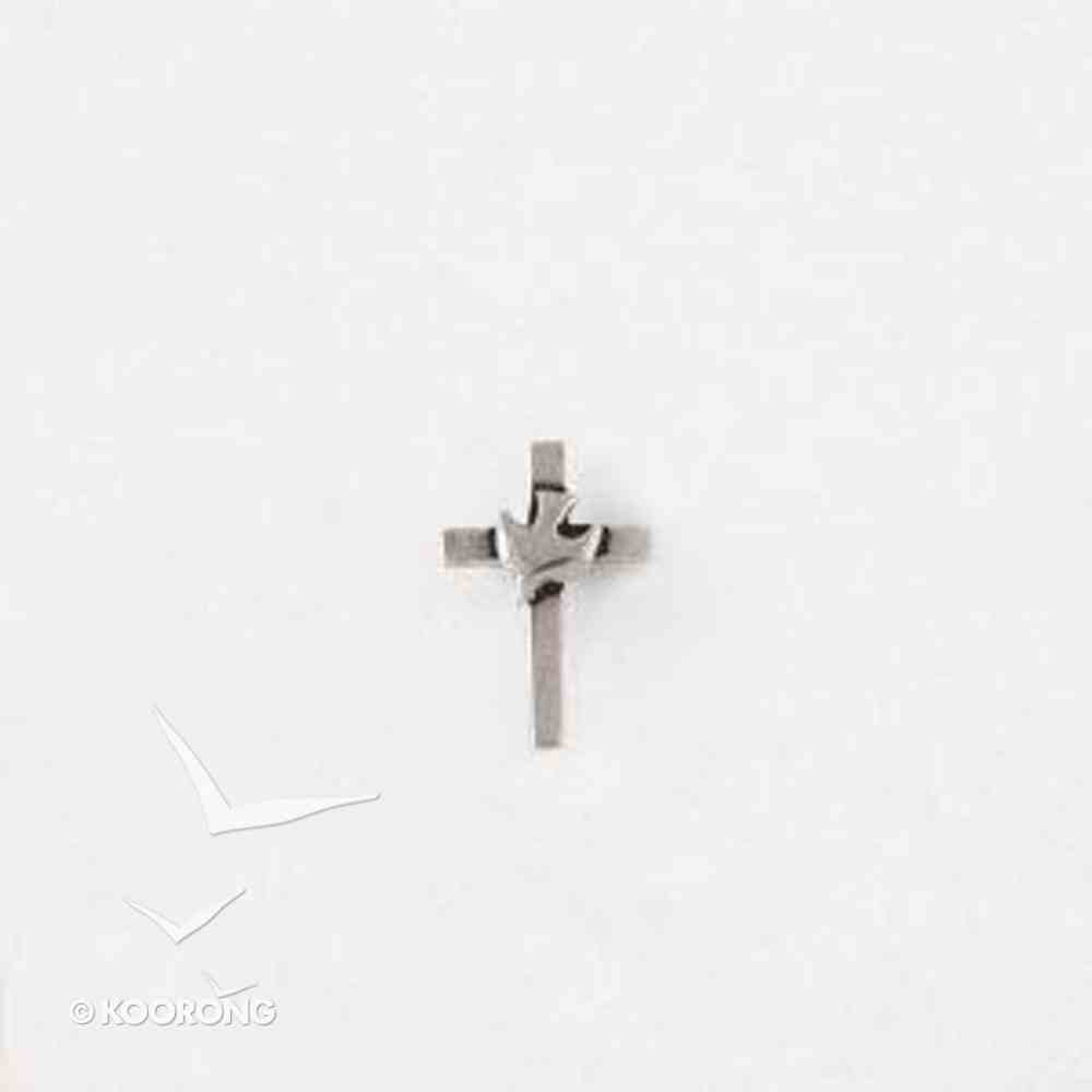 Lapel Pin 100% Lead Free Pewter Cross With Dove Jewellery