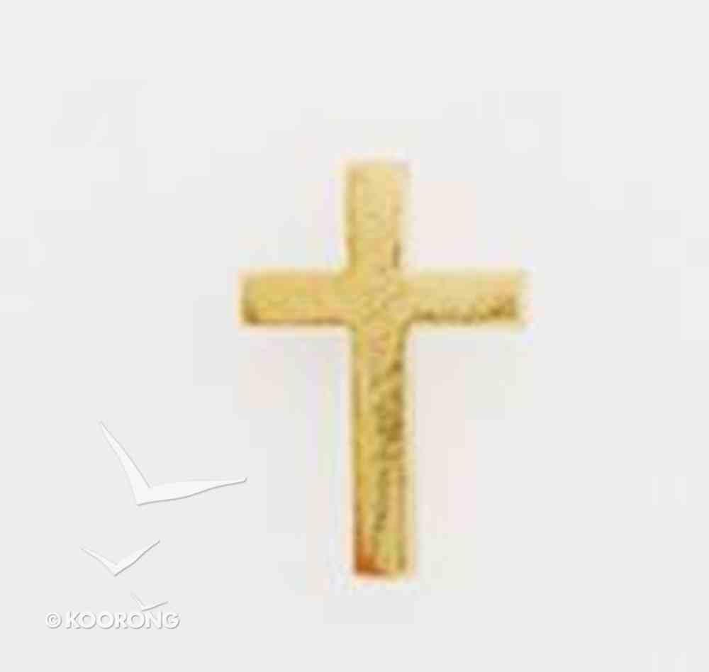 Lapel Pin Gold Plain Cross Jewellery