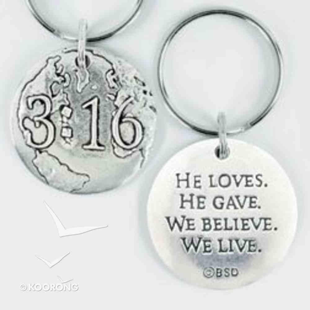 Keyring: 3 16 Pewter (100% Lead Free Pewter) Jewellery