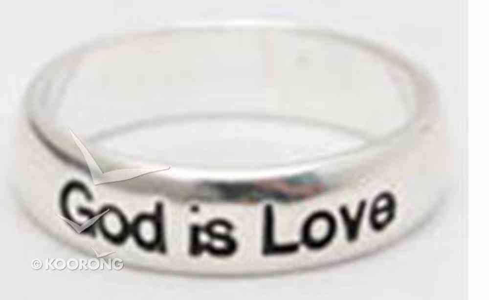 Ring: God is Love Size 10 Sterling Silver Jewellery