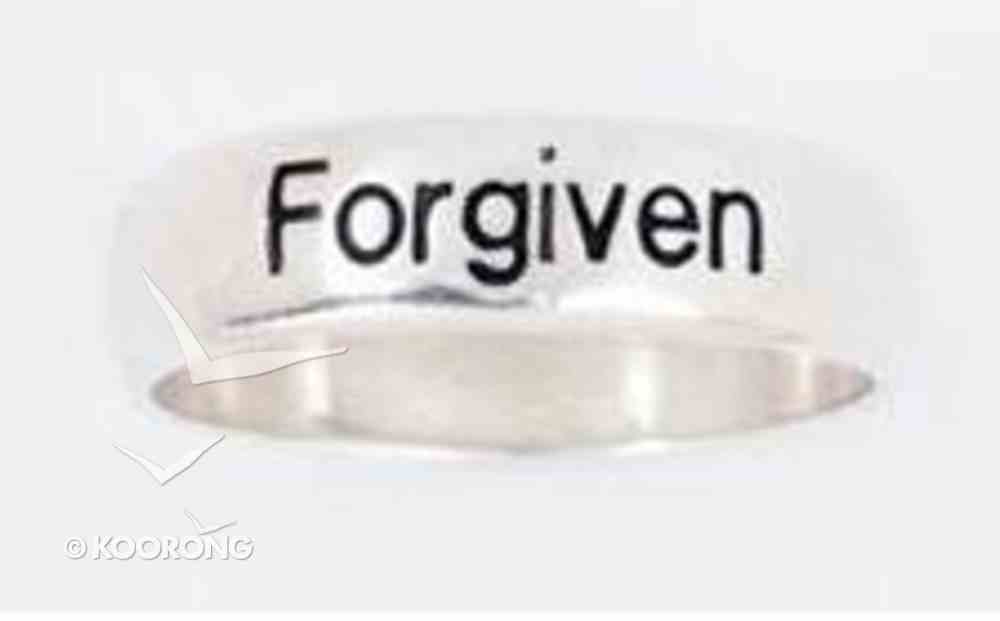 Ring: Forgiven Size 06 Sterling Silver Jewellery