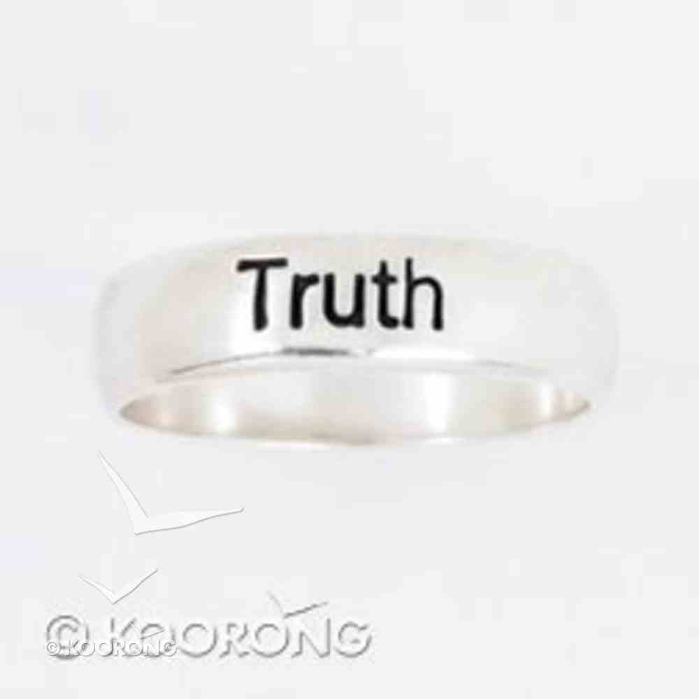 Ring: Truth Size 08 Sterling Silver Jewellery