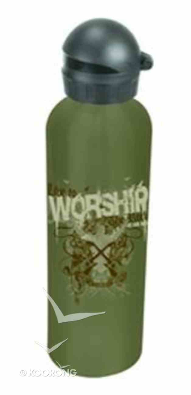Water Bottle 750ml Stainless Steel: Live to Worship Homeware