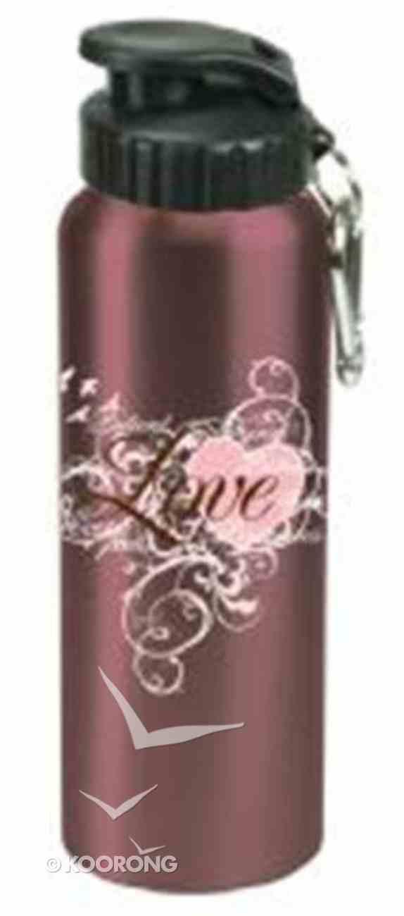Water Bottle 750ml Stainless Steel: Love (Hand Wash Only) Homeware
