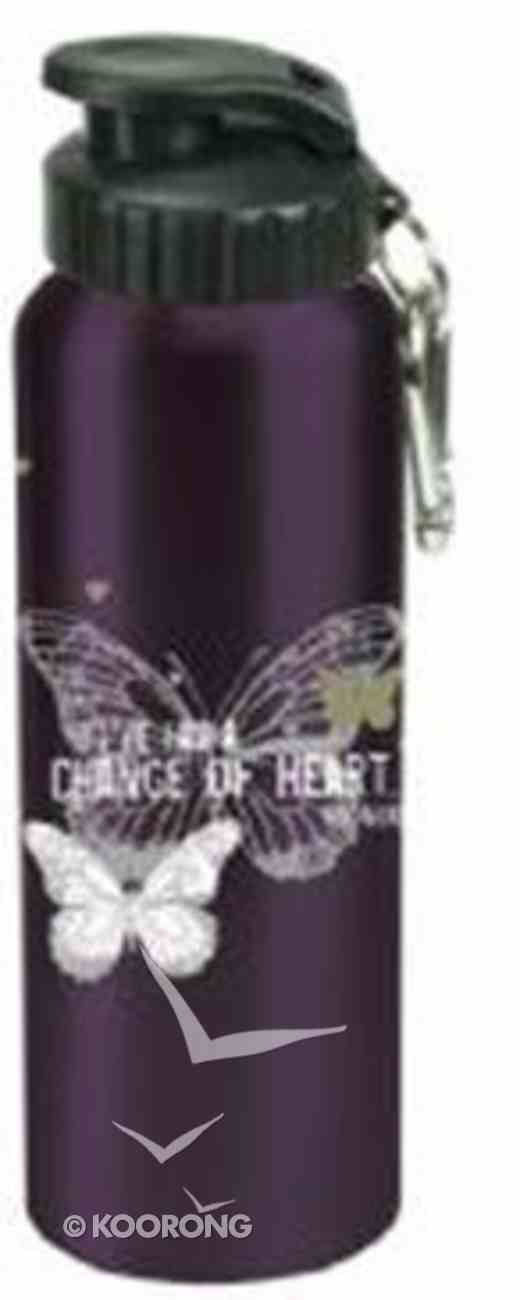 Water Bottle 750ml Stainless Steel: I've Had a Change of Heart Dark Purple (Hand Wash Only) Homeware