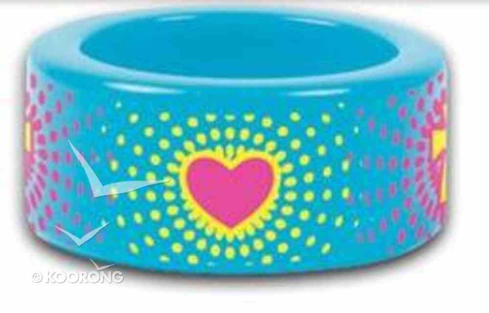Cherished: Heart Burst Fun Colorful Acrylic Ring Size 6 Jewellery