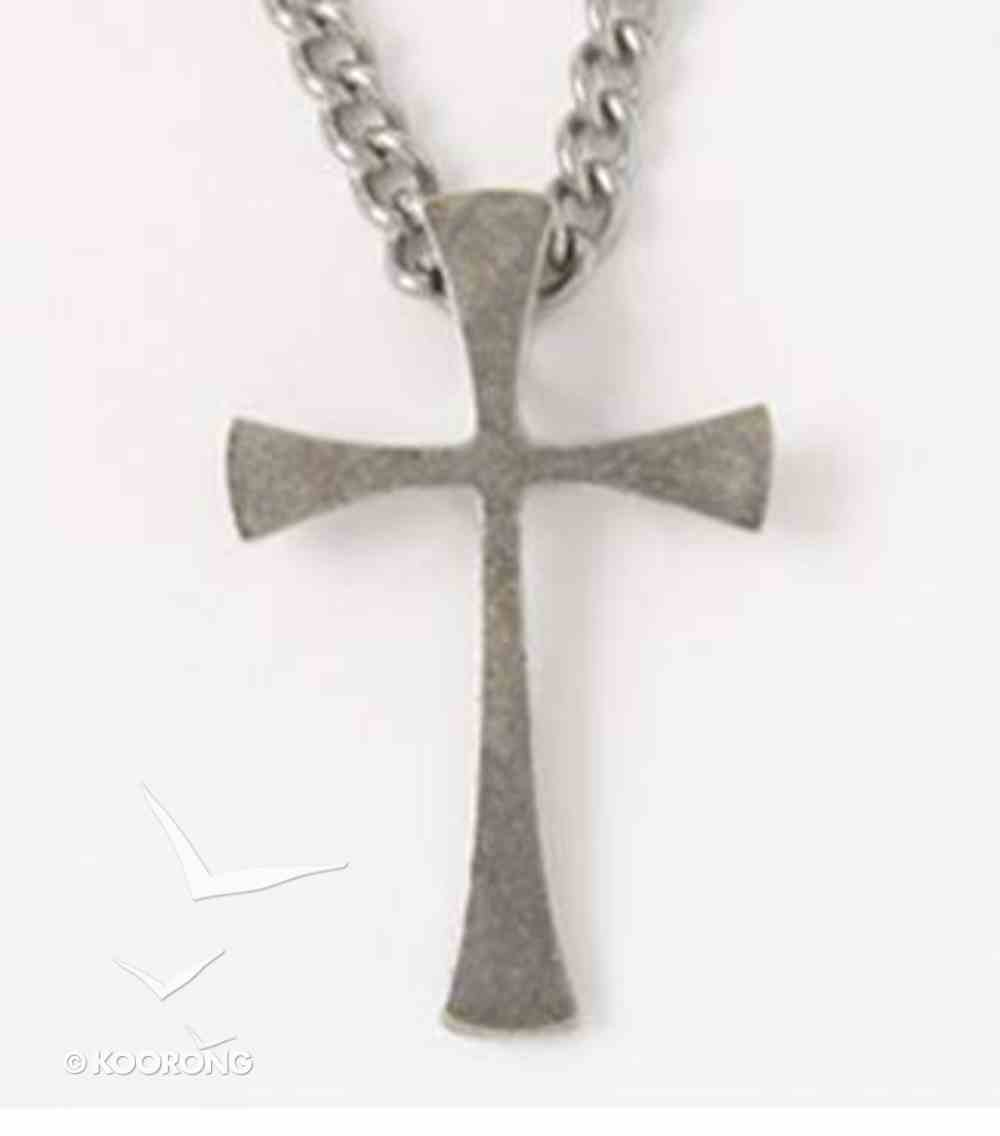 Pendant: Cross Flared End (Pewter) Jewellery