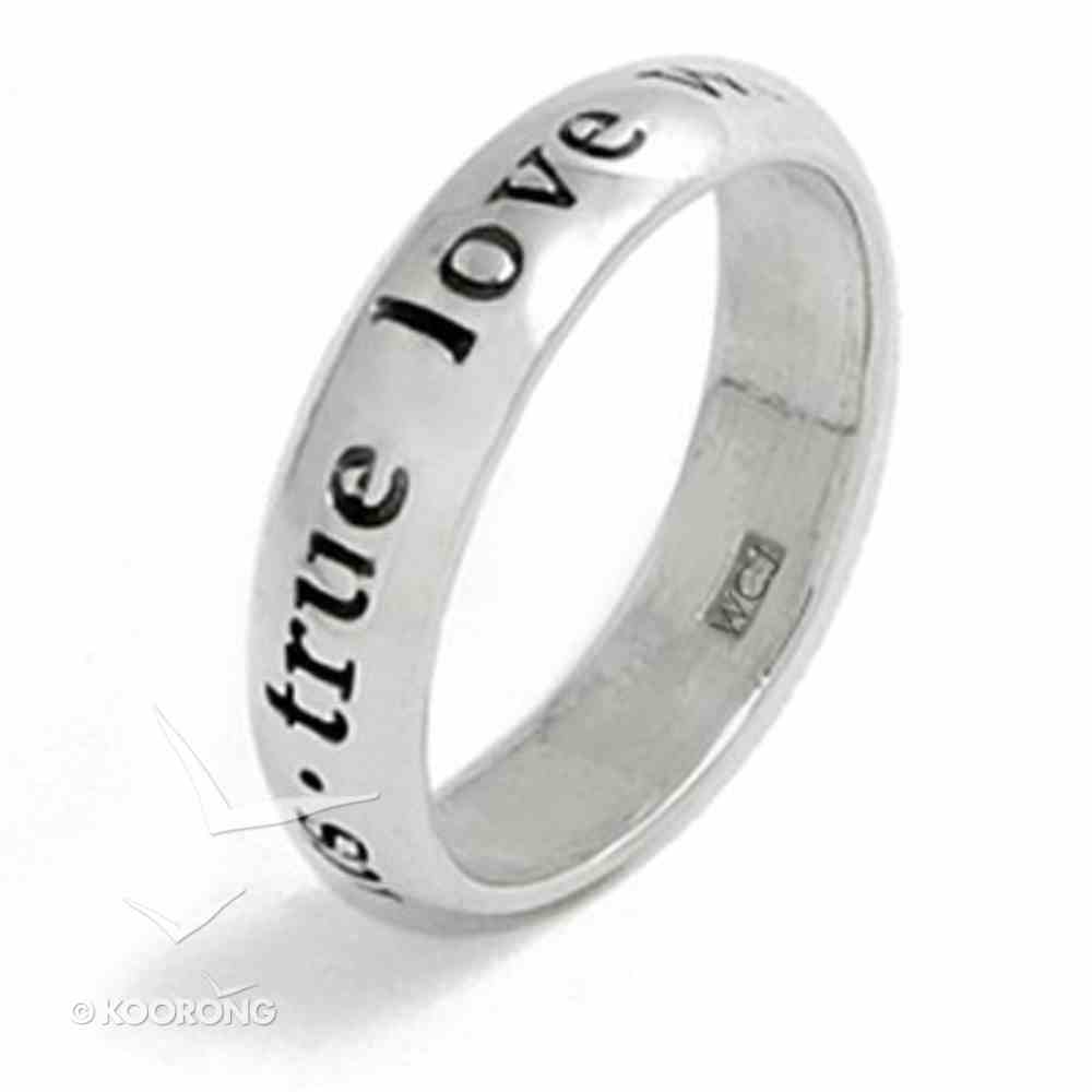 Ring: True Love Waits Size 06 (Sterling Silver) Jewellery