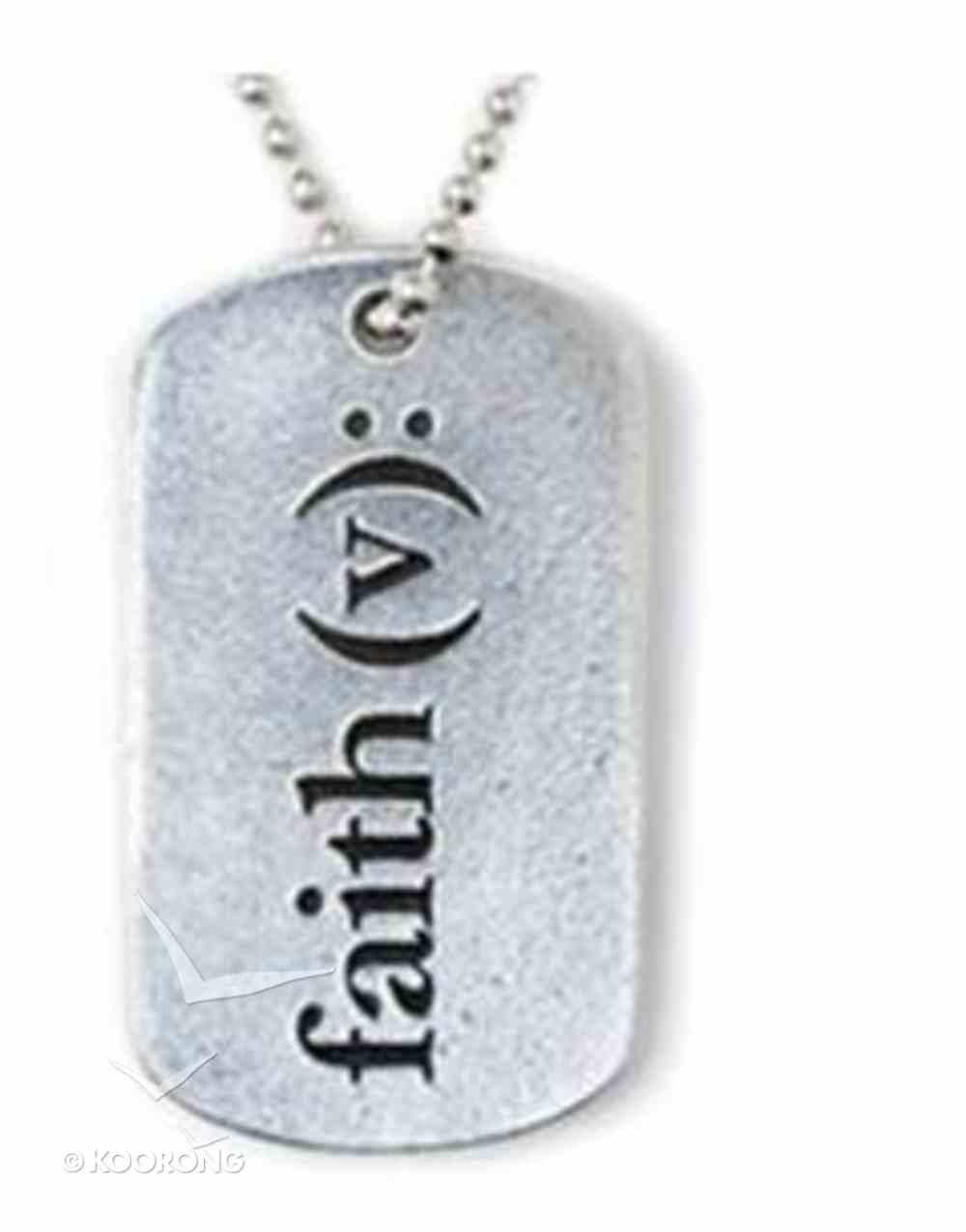 Tag Pendant: Faith (Pewter) Jewellery
