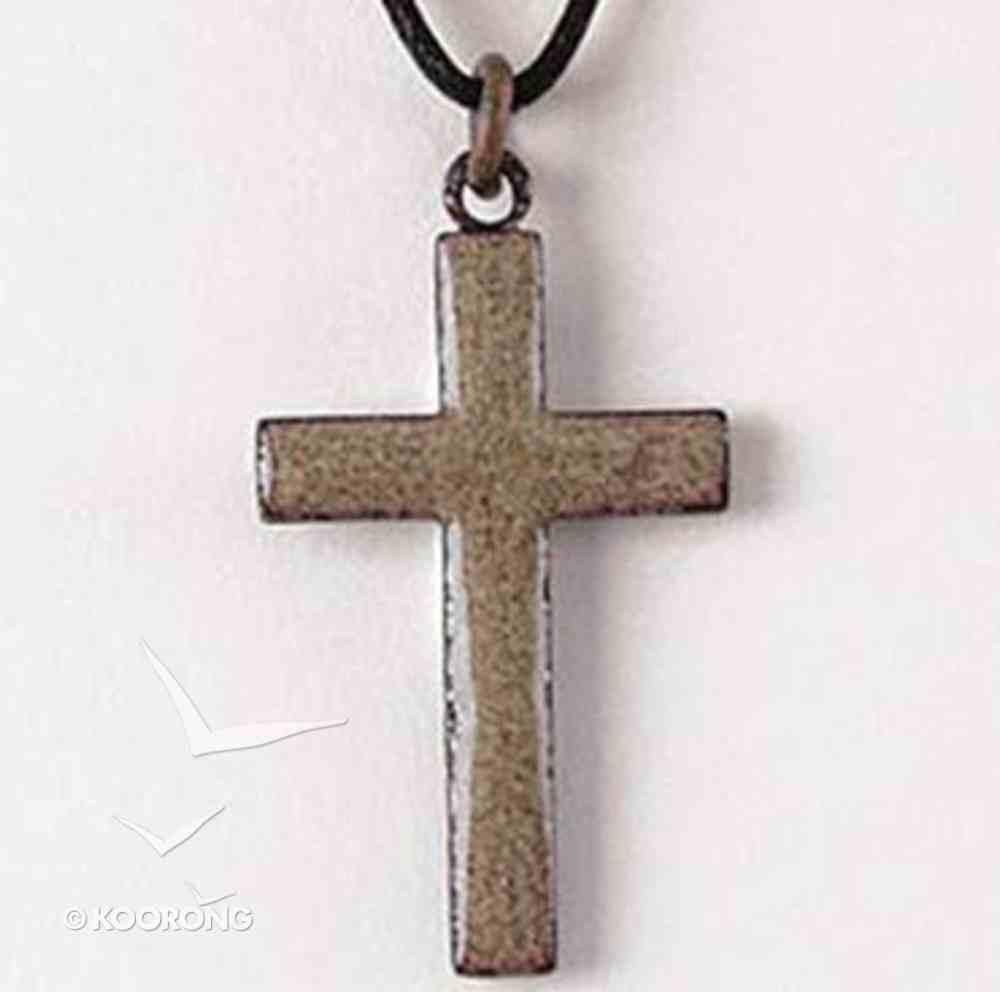 Pendant: Cross Sand Enamel Jewellery