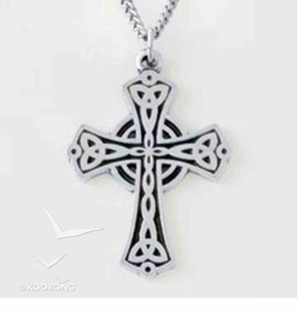 Pendant: Flat Triquetra Cross (Pewter) Jewellery