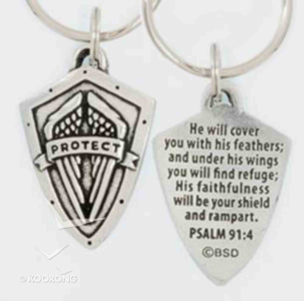 Keyring: Protect Shield (Lead-free Pewter) Jewellery