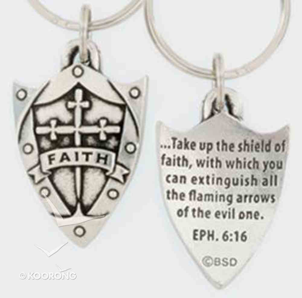 Keyring: Faith Shield (Lead-free Pewter) Jewellery
