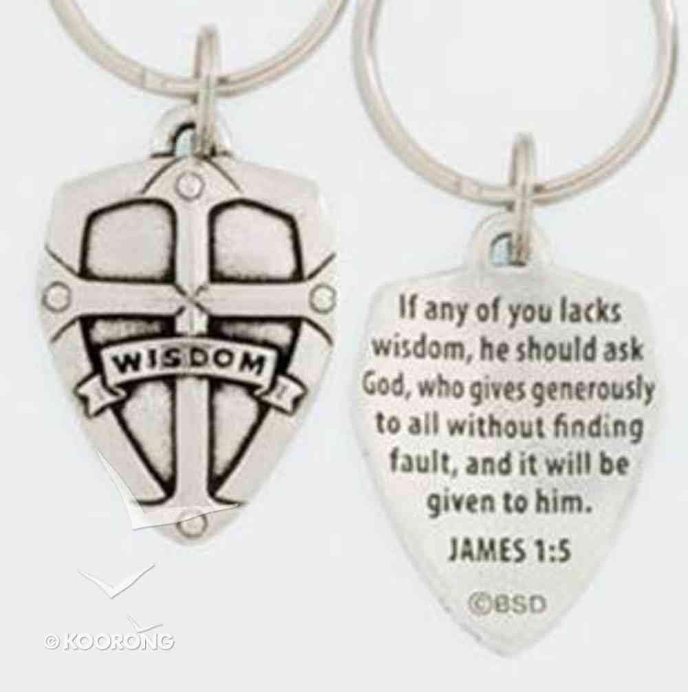 Keyring: Wisdom Shield (Lead-free Pewter) Jewellery
