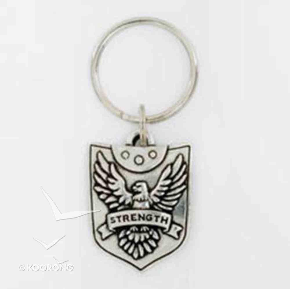 Keyring: Strength Shield (Lead-free Pewter) Jewellery