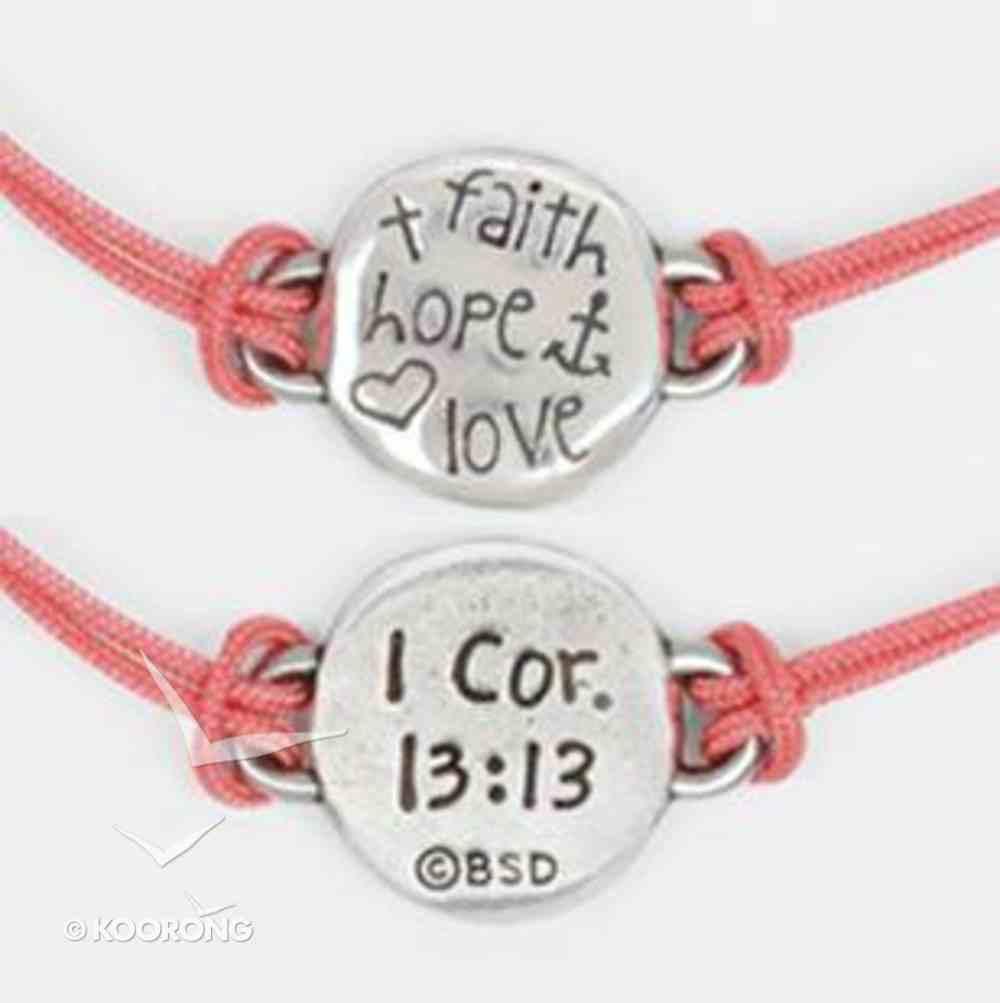 Bracelet: Faith Hope Love Adjustable (100% Lead-free Pewter) Jewellery
