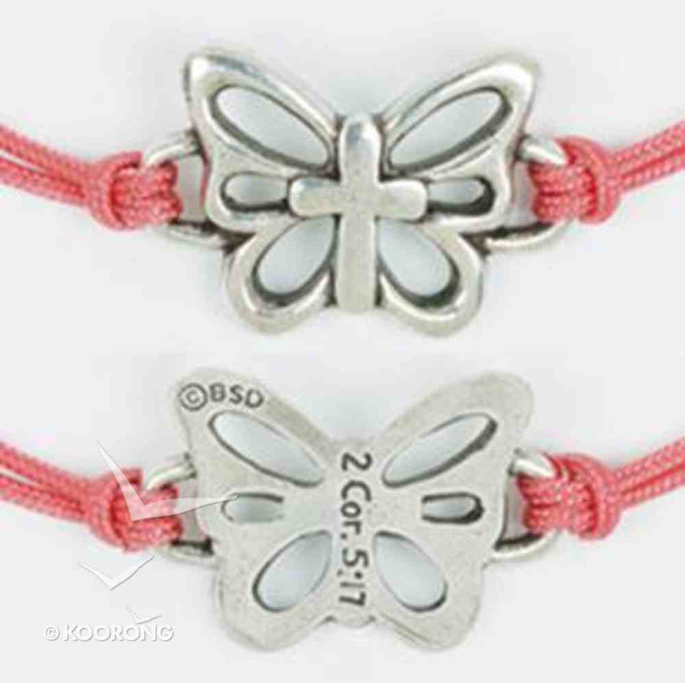 Bracelet: Butterfly With Cross Adjustable (%100 Lead Free Pewter) Jewellery