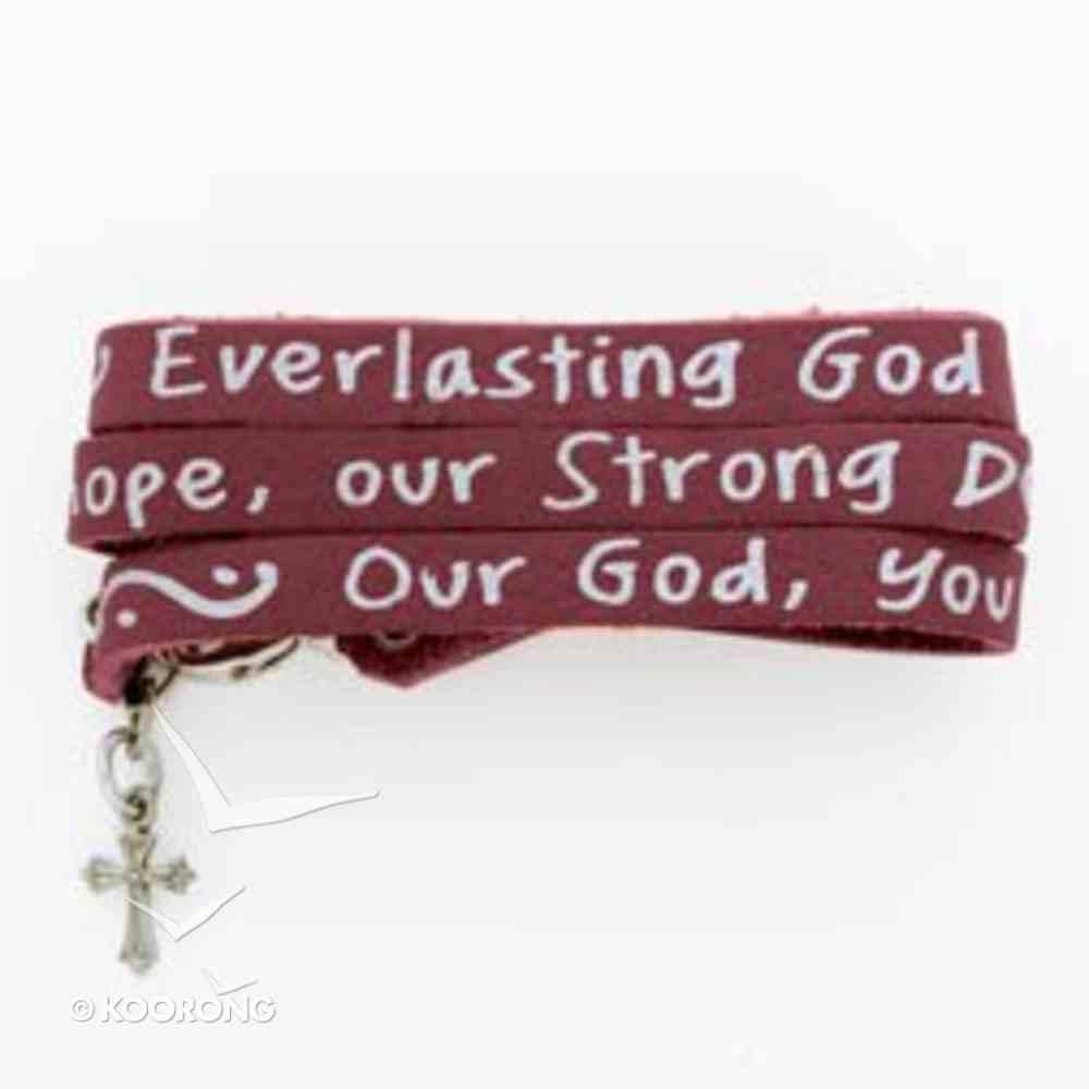 Bracelet: Songs of Worship: Everlasting God (Leather Wrap) Jewellery