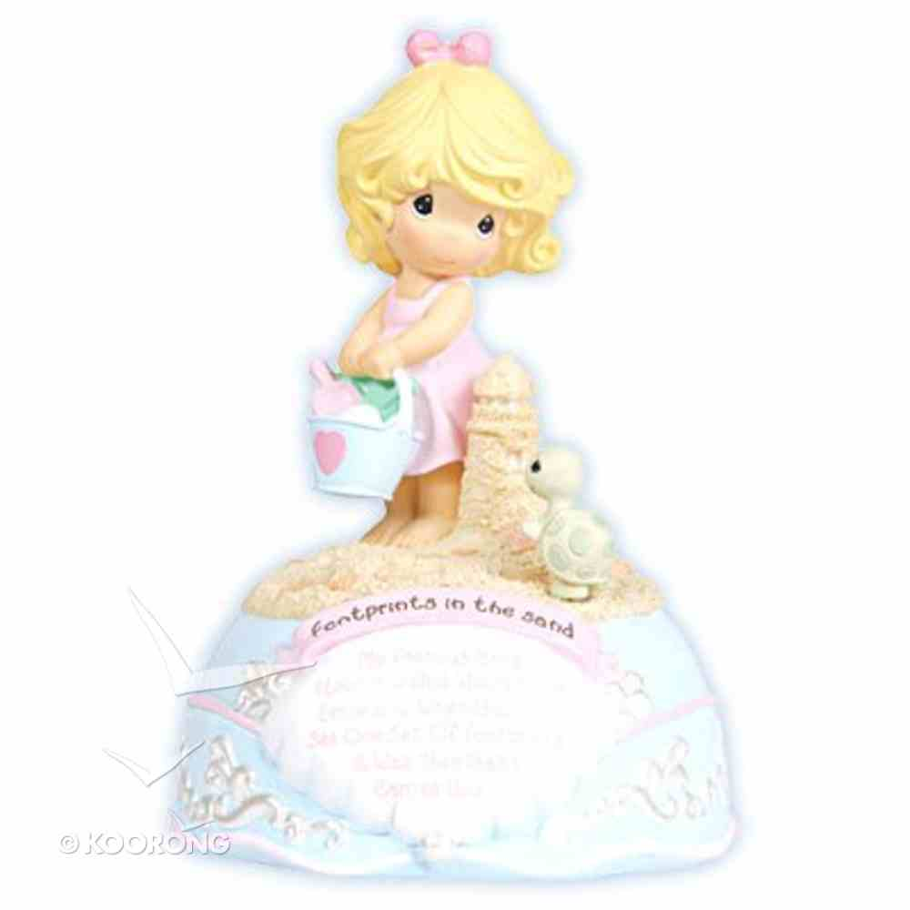 Precious Moments Figurine: Girl, Footprints in the Sand (Musical) Homeware