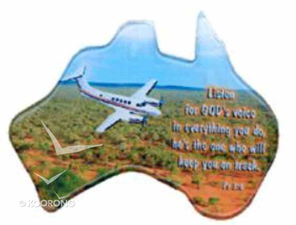 Christian Australia Map Shaped Resin Fridge Magnet: Plane/Outback/Ps 3:6 Novelty