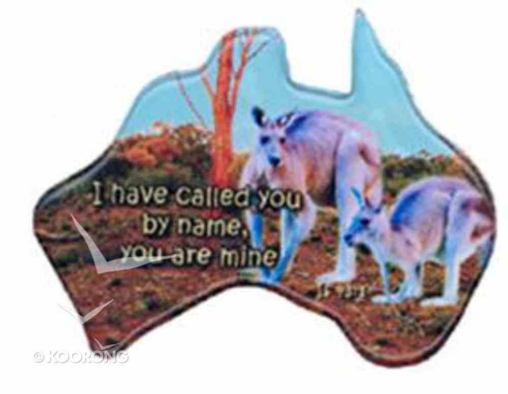 Christian Australia Map Shaped Resin Fridge Magnet: 2 Roos/Is 43 1 Novelty