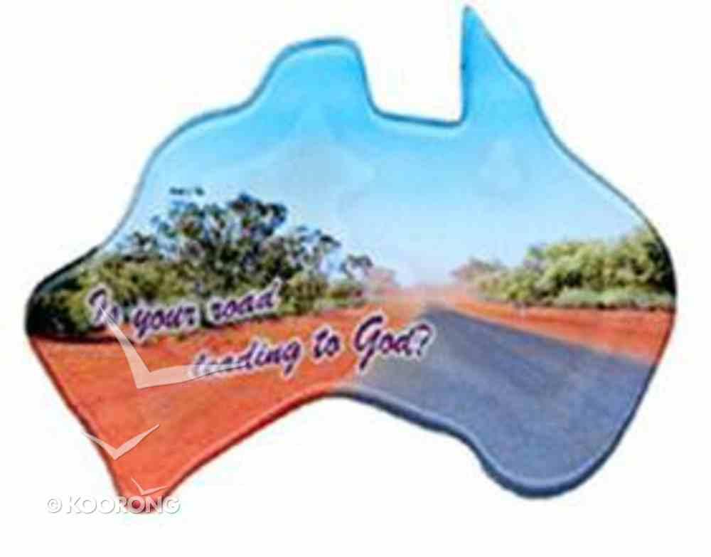 Christian Australia Map Shaped Resin Fridge Magnet: Road/Lead to God Novelty