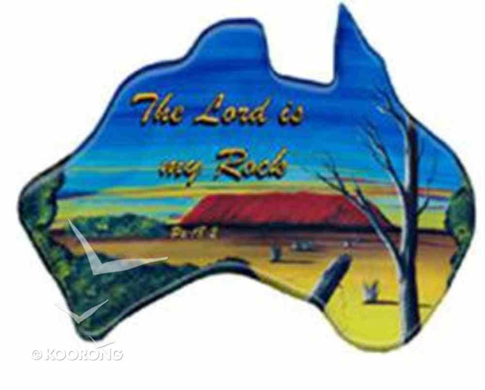 Christian Australia Map Shaped Resin Fridge Magnet: Uluru/ Ps 18:2 Novelty