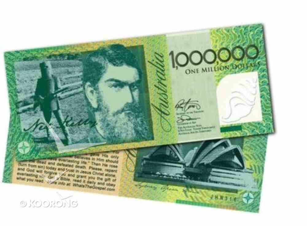 One Million Dollar Note Gospel (100 Pack) Booklet