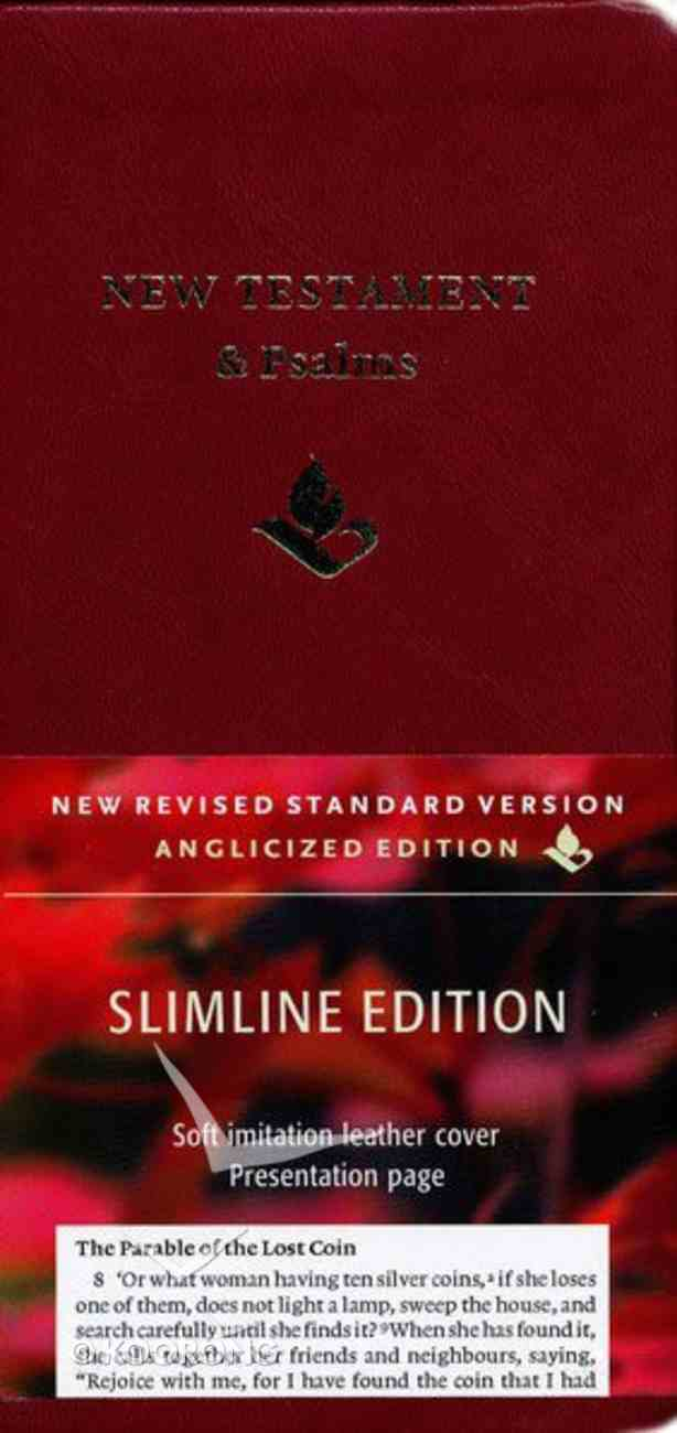 NRSV Slimline New Testament and Psalms Anglicized Edition Burgundy Imitation Leather