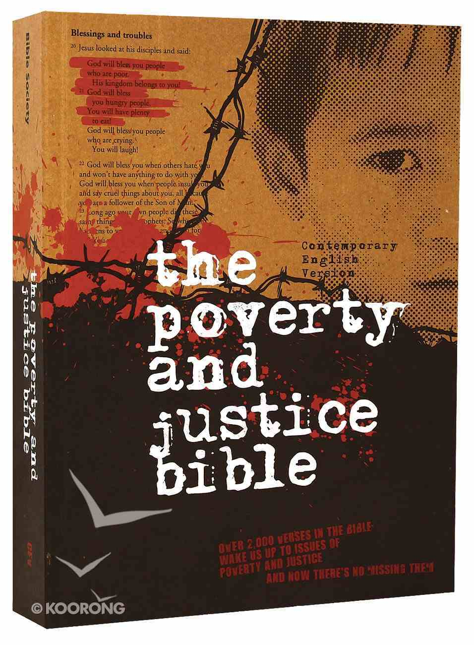 CEV Poverty and Justice Bible (Australian Edition) Paperback