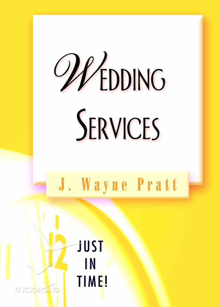 Weddings Services (Just In Time Series) Paperback