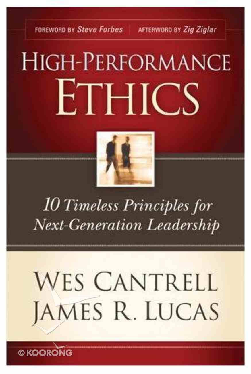 High-Performance Ethics Paperback