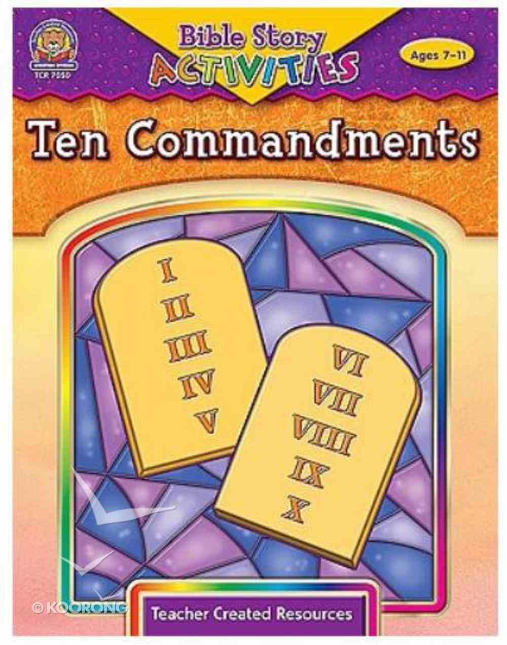Ten Commandments (Bible Stories & Activities Series) Paperback