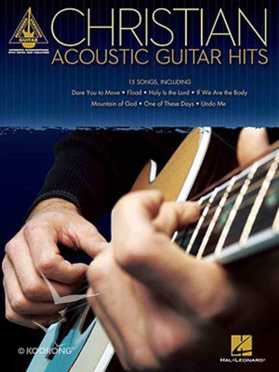 Christian Acoustic Guitar Hits (Music Book) Paperback
