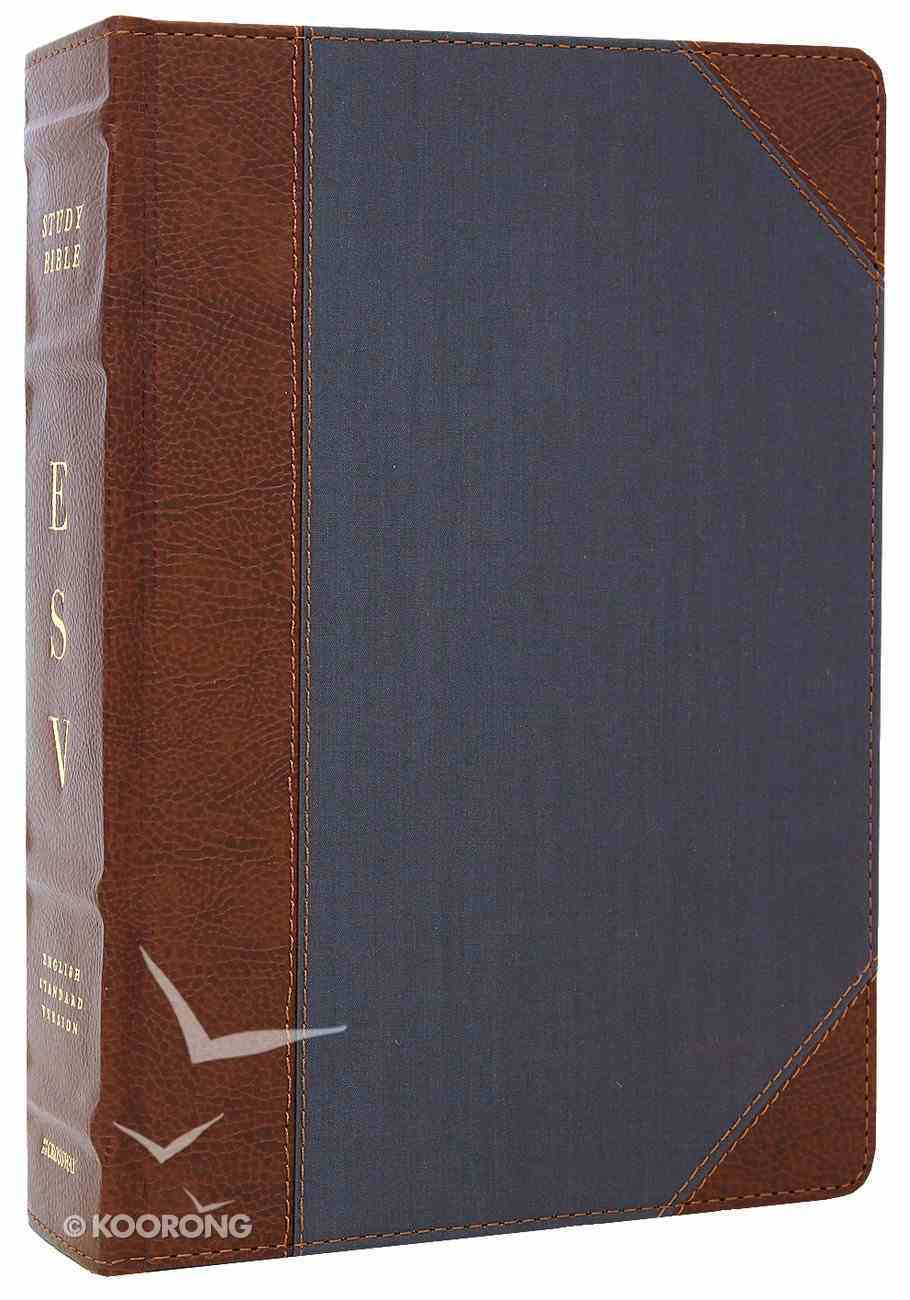 ESV Study Bible Brown/Slate Portfolio Design Imitation Leather