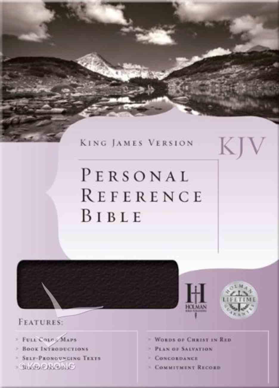 KJV Personal Reference Bible Black Bonded Leather
