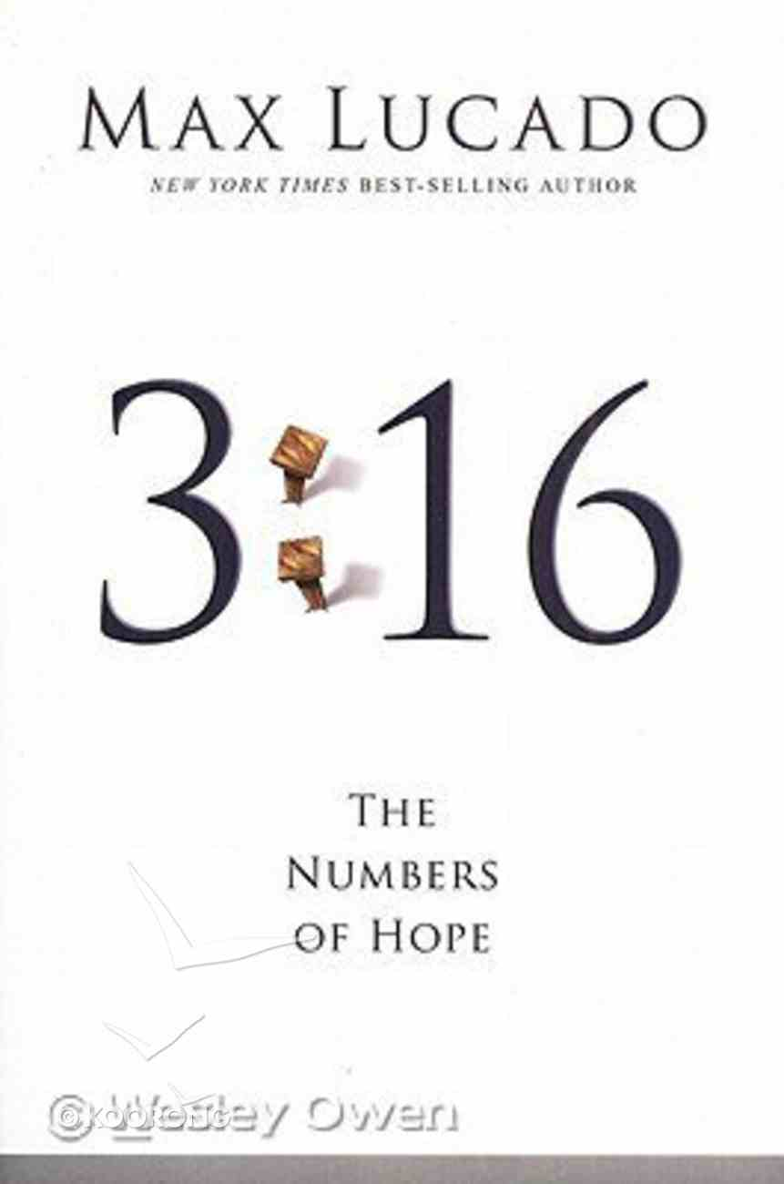 3: 16 - the Numbers of Hope (Large Print) Paperback