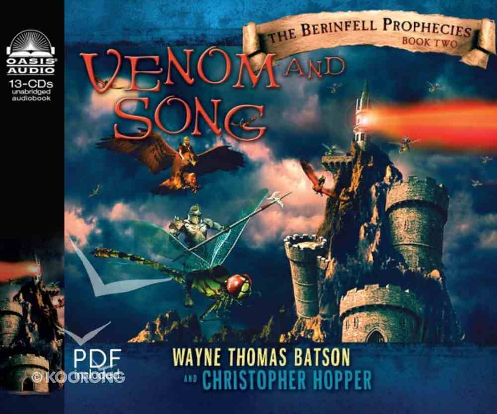 Venom and Song (Unabridged, 8 CDS) (#02 in The Berinfell Prophecies Series Audiobook) CD